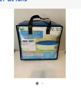 New Intex 29022E 12-Foot Easy Set Metal Frame Swimming Pool Solar Cover Tarp,