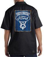 FORD GENUINE PARTS Dickies Mechanics Work Shirt ~ Licensed ~ Mustang V8 F150