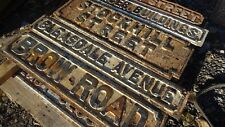 "Victorian cast iron street sign "" BLEASDALE AVENUE """