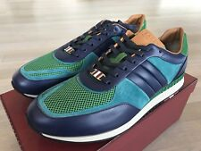 700$ Bally Ascar Grass Leather Sneakers size US 12.5 Made In Italy