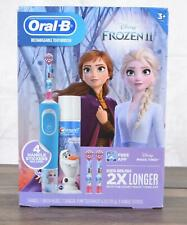 New Oral-B Kids Rechargeable Electric Toothbrush Disney Frozen 2 Magic Timer