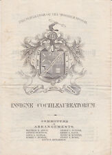 1855 YALE Program PRESENTATION OF THE WOODEN SPOON Soc. of  the Cochleaureati