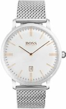 NUOVO Hugo Boss HB 1513481 Orologio da uomo tradizione Mesh - 2 anni di garanzia