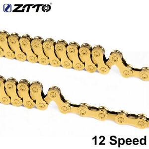 High-Quality MTB Bike 12 Speed Chain Gold for x1 x12 System Connector 126L links