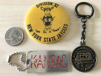 Lot of 3 Jaycees Keychains Buttons Pinbacks Kansas New York Duluth #34429