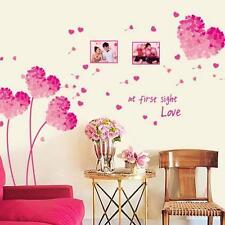 Pink Red Love Flower Art Decal Wall Sticker Kids Home Room Decor Wall paper