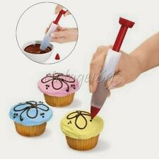 Syringe Silicone Decorate Pen Gun For Cake/Pastry/Chocolate/Cream/Cookie/Biscuit