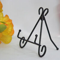 Iron Easel Bowl Plate Art Photo Picture Frame Holder Book Display Stand Foldable