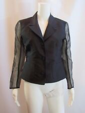 Lolita Lempicka Black Sheer Long Sleeve Jacket Blazer Size French 40