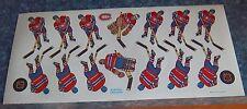 Coleco hockey team Sticker Sheet Montreal Canadians 1980's -90's table hockey