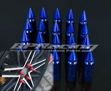 20pcs M12 x 1.5 Spiked Lug Nuts Extended Tuner Wheel/Rims For Honda Toyota Blue