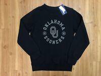 Oklahoma Sooners Crewneck Sweatshirt Pullover Mens Fanatics Size Medium Black