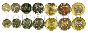 BOTSWANA 7 COINS SET 2013 UNC (# 686)
