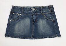 JDC Jeanseria del corso jeans mini gonna usata blu denim tg 44 w30 vintage T2456