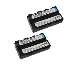 2x NP-F330/NP-F550/NP-F570 Battery fo Sony camera camcorder NPF330 NPF550 NPF570