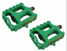 """M.T.B Pedals 861 1/2""""  GREEN bmx bicycle pedal.road bicycle pedal PLASTIC 1/2"""
