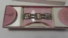 Memory Maker E-Z Fit Stretch Metal Photo Bracelet with 6 Mini Picture Frames & I