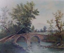 "Unknown Artist ""Fishing Scene on Stone Bridge"" 1899 L.C. (pennsylvania)"