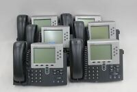 6 x CISCO CP-7961G 7900 Series IP Managers Office Business Phones Telephones