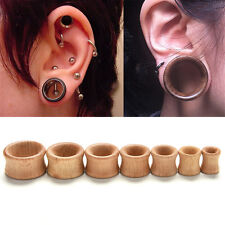 Organic Wood Double Flared Ear Plugs Tunnels Expander Stretcher Gauges CAWB