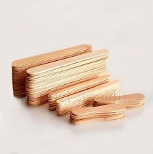 100 pcs Waxing Spatulas Wooden Wax Applicators Sticks 3 sizes Big Small Medium