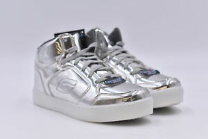Youth Boy's Skechers Energy Lights High Top Sneakers, Silver, 7M