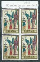 España II Centenario Variedades 1975 Edifil 2286 ** Mnh Bloque de 4 con doble im