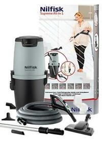 Nilfisk All-in-1 Paket Set Supreme 250 Deluxe Haussauganlage Zentralstaubsauger
