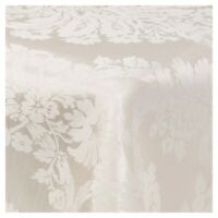 Damask Beige Jacquard Tablecloths Rectangle Oblong Table Cloth Tableware Dining