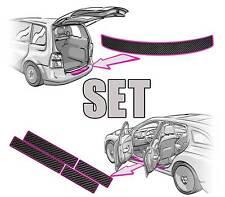 SEAT ALHAMBRA II Ladekantenschutz + Einstiegsleisten SET 3D CARBON SCHWARZ