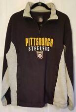 e1fb7dd871c NFL Pittsburgh Steelers Pullover Sweatshirt 1/4 Zippered Collar Grey Sz M B2