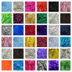 "Premium Crushed Velvet Fabric Dress Craft Stretch Velour Material 150cm 59"" Wide"