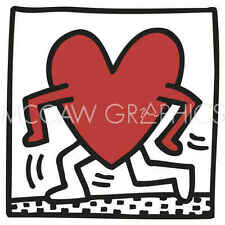 Keith Haring KH04 Abstract Contemporary Pop Art Figure Heart Print Poster 11x14