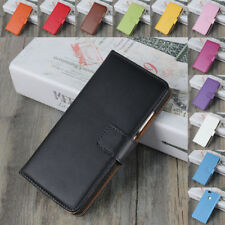 Genuine Real Leather Flip Wallet Case Cover For Huawei P8 P9 P10 P20 Lite Pro