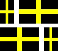 4 x sticker vinyl decal county flag uk bumper car moto david st saint davids