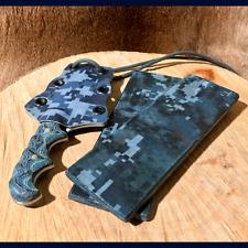 "US NAVY Digital Camo Micarta Knife Scales Pair 5 1/2""x 2"" x 1/4"" Free S & H"