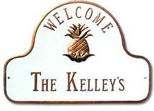 Montague Pineapple Welcome Plaque Or Address Sign in 2 Mounts & 20 Color Choices