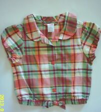 NWT Gymboree Coral Reef Madras Plaid Jacket Top 4