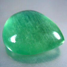 37.82CTS 22x19MM DAZZLING NATURAL GREEN FLUORITE LOOSE GEMSTONE