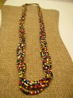 Native American Glass Seed Bead Necklace ~ Handmade Necklace ~