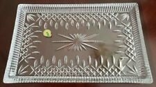 Waterford 7523186491 Lismore Lead Crystal Rectangular Tray W Sleeve