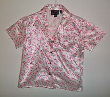 PRE-OWNED GIRLS ROPER SHORT SLEEVE SHIRT FAMOUS HORSE NAMES SIZE 6-6X