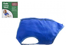 Crufts Cooling Dog Body Vest Gel Blue Adjust Strap Med Neck 28-32/Chest 42-46cm