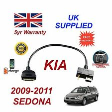 For KIA Sedona iPhone 3 3gs 4 4S iPod USB & 3.5mm Aux Audio Cable 2009 - 2011