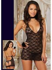 Valentines SEXY & NAUGHTY LACE TEDDY BABYDOLL LINGERIE NIGHTWEAR DRESS Crotch