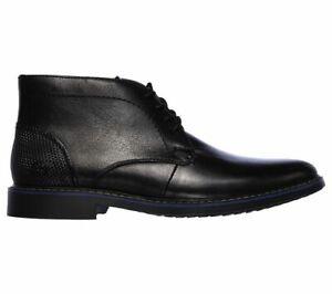 Skechers Bregman - Calsen Leather Boot  Lace Up UK Sizes 8-12 RRP £80