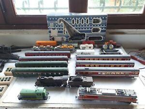 Jouef HO coffret TRAIN ELECTRIQUE pont complément rails Très bon état 1970 PROMO