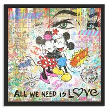 """"""" Is Love """", Limited Edition on fine art paper, Signed, Mickey Minnie Disney"""