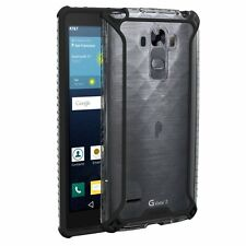 For LG G Vista 2 (2015) POETIC Affinity Dual material Shockproof Bumper Case BLK