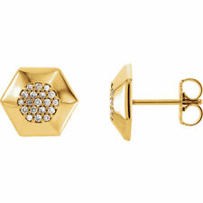Diamond Geometric Cluster Earrings In 14K Yellow Gold (1/5 ct. tw.)